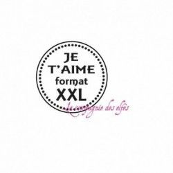 Tampon scrapbooking amour | tampon je t'aime