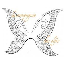 des ailes de fée papillon tampon nm