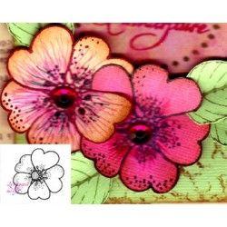 Tampon fleur coeur à 5 feuilles nm