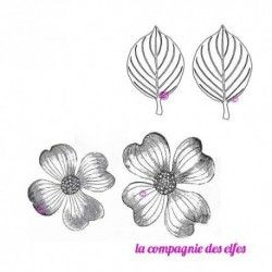 Tampon fleur | tampon encreur fleur