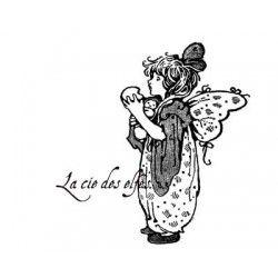 petit elfe et son poupon tampon nm
