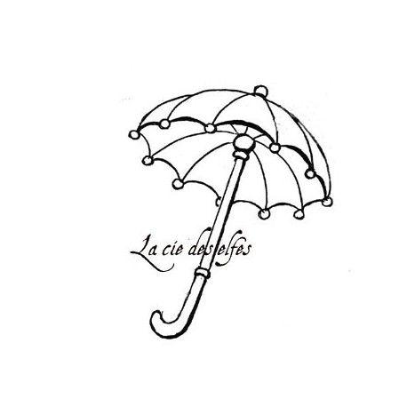 Tampon encreur naissance | birth stamp | umbrella stamp