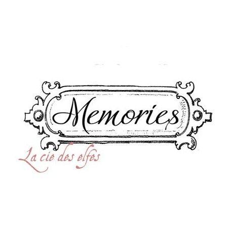 Memories stamp | tampon héritage scrapbooking | tampon mémoire scrapbooking
