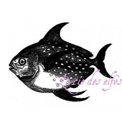 Tampon poisson | fish rubber stamp