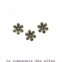lot de 3 fleurs métal