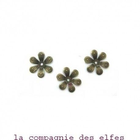 achat breloque bronze | breloque fleur