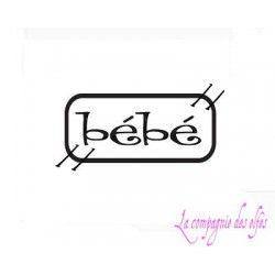 label bébé - tampon nm