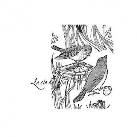 Tampon nid oiseau | bird stamp