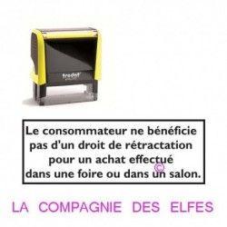 Tampon salon commerciaux | tampon encreur consommateur