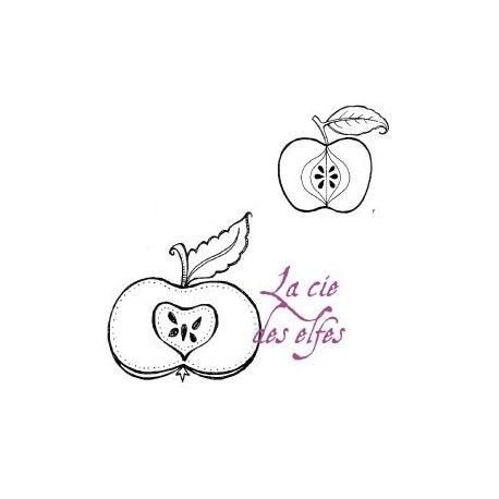 tampon encreur pomme | apple rubberstamp
