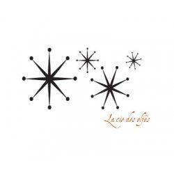 farandole étoiles de neige - tampon nm