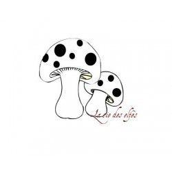 duo de champignons - tampon nm