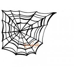 Tampon toile araignée | spider rubber stamp