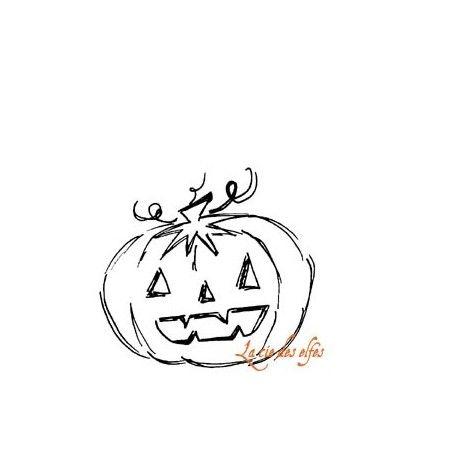 Tampon citrouille halloween | achat tampon scrap halloween