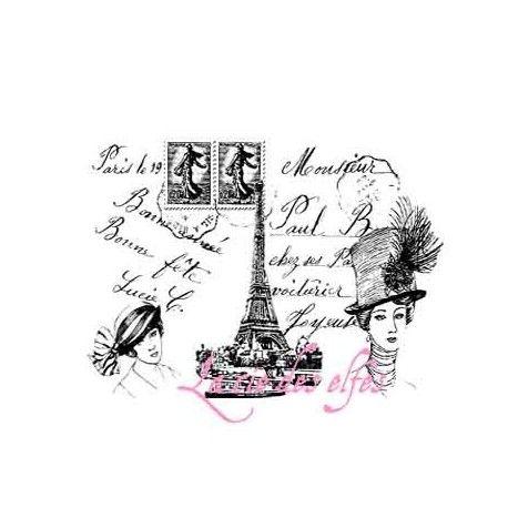 Paris - paris - tampon bois EDITION LIMITEE