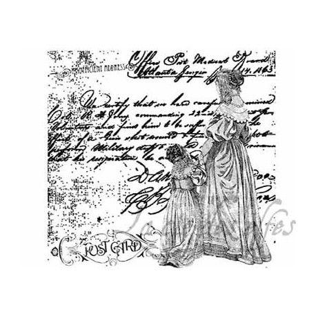 Mini album dentelles et vieux papiers par Clara. Dis-maman-grand-tampon-nm