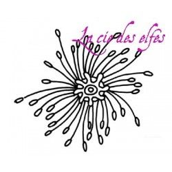 coeur de Fleur curl réf 3 MM tampon nm
