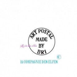 TAMPON BOIS ART POSTAL personnalisable