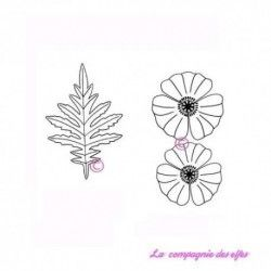 poppy stamp | poppies rubber stamp