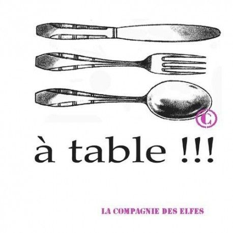 tampon table | tampon encreur menu | tampon encreur mariage