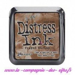 distress frayed burlap