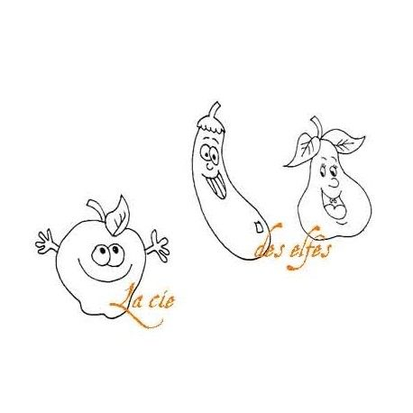 pomme poire et courgette - tampons nm