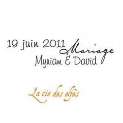 tampon date mariage | tampon mariage | tampon prénom mariage
