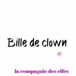 Tampon clown | tampon encreur clown | tampon scrap bille de clown