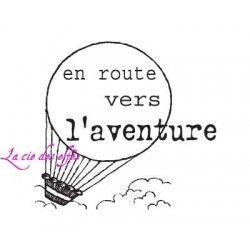 montgolfière 'en route vers l'aventure' tampon nm