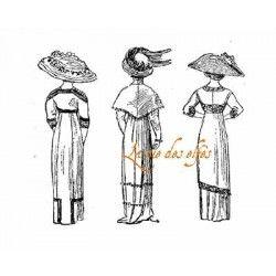 trio de dames vintage tampon nm