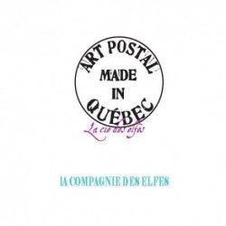 ART POSTAL MADE IN québec tampon nm