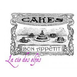 bon appétit CAKES ETIQUETTE tampon nm