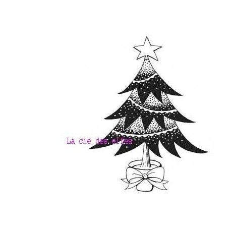 sapin de Noël - tampon nm