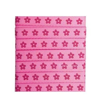 ruban fleurs rose