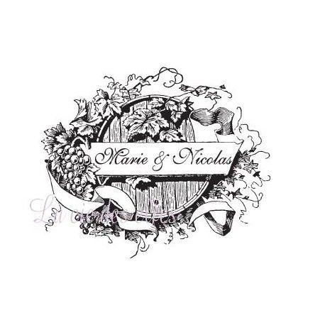 Tampon mariage vigne | tampon vigne | tampon encreur raisin