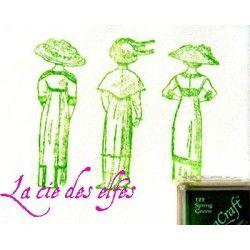 encre tissu vert spring