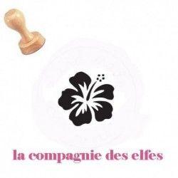 tampon bois hibiscus | hibiscus | tampon fleur exotique