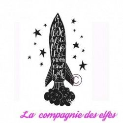 Tampon I love you to the moon GM - non monté