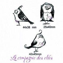 tampons oiseaux fun - tampon nm - PM ref B