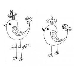 les oiseaux de Bri tampon nm