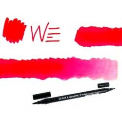 feutre brush art graphic ROUGE