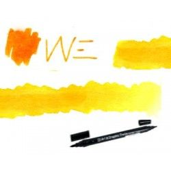 Feutre brush aquarelle double pointe jaune orange 42
