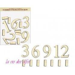 chiffre bois | chiffre horloge | clock number