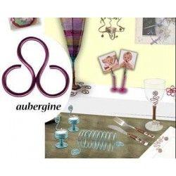 cable aluminium aubergine 2 mm