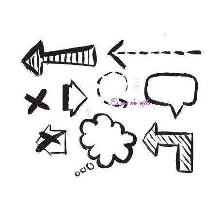 Challenge du 1er décembre sketch ATC. Fleches-bulles-journaling-tampons-nm