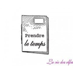 cahier journal prendre le temps tampon nm