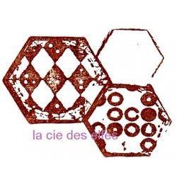 trio hexagones tampon nm