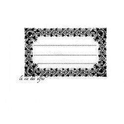 Tampon encreur étiquette | tampon étiquette rétro | tampon ancienne étiquette