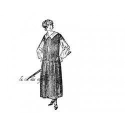 Tampon rétro femme | tampon scrapbooking vintage