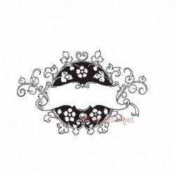 Tampon encreur floral | tampon encreur champêtre | tampon mariage champêtre